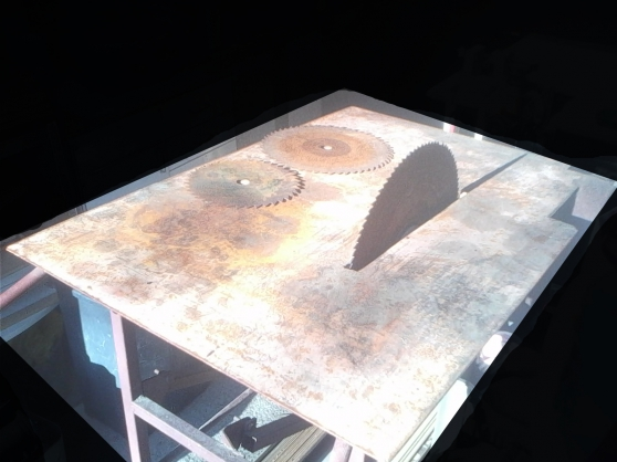 table scie à bois avec axe,courroie - Photo 2