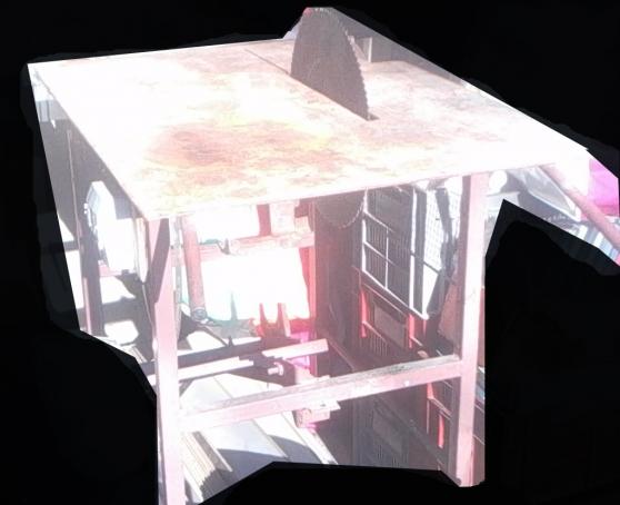 table scie à bois avec axe,courroie - Photo 3