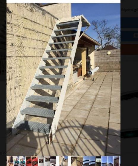 Escalier métalique avec palier et rambar