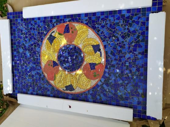 Plateau de table en céramique décorative