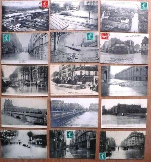 lot 15 cpa innondation paris 1910