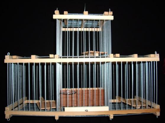 Cage Trèbuchet à 3 trappes bois métal