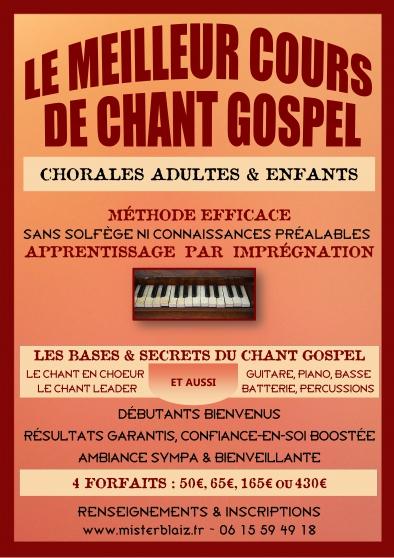 cours de chant gospel en chorale - Annonce gratuite marche.fr