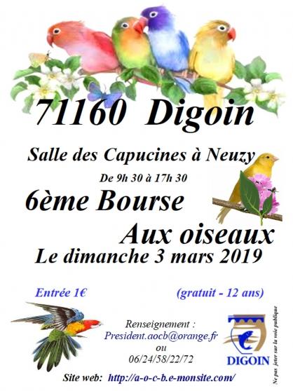 6éme bourse aux oiseaux - Annonce gratuite marche.fr