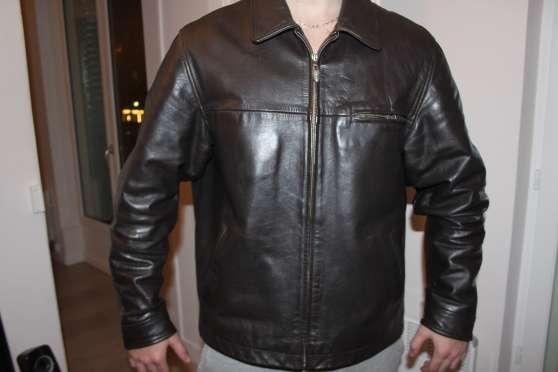 Blouson Eden Park cuir vachette XL