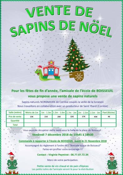 vente de sapins naturels - Annonce gratuite marche.fr