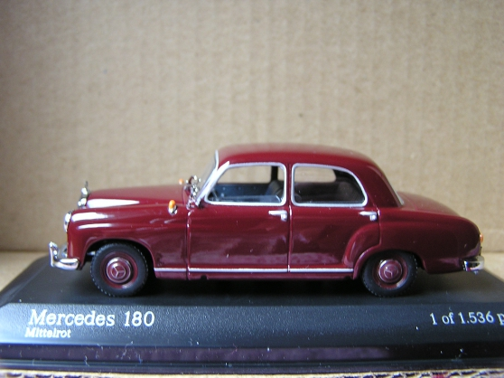 mercedes 180 minichamps