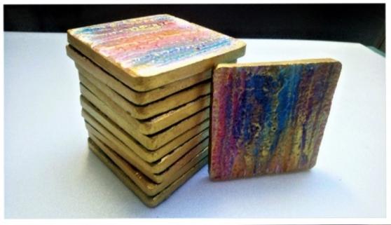 Dessous de verre lot 7 multicolore