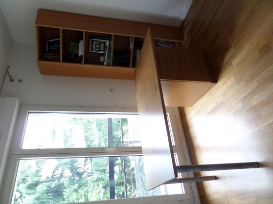 biblioth que d 39 angle bureau assorti courbevoie meubles d coration bureau fauteuil de. Black Bedroom Furniture Sets. Home Design Ideas
