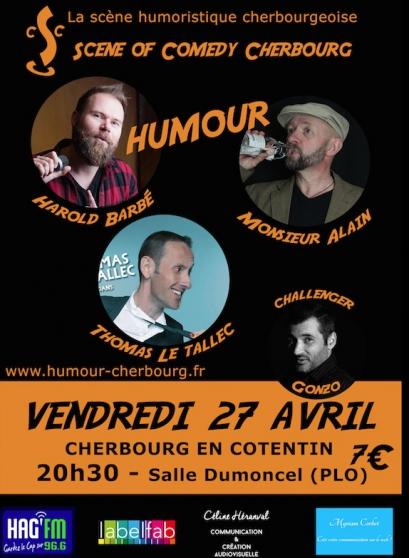 Soirée humour - Scene of Comedy Cherbour