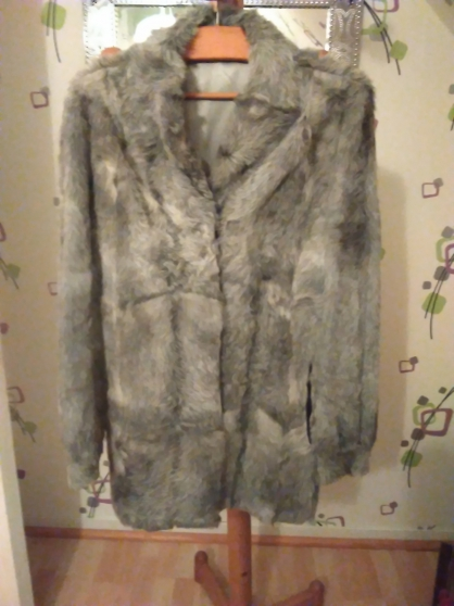 veste fourrure de renard argenté