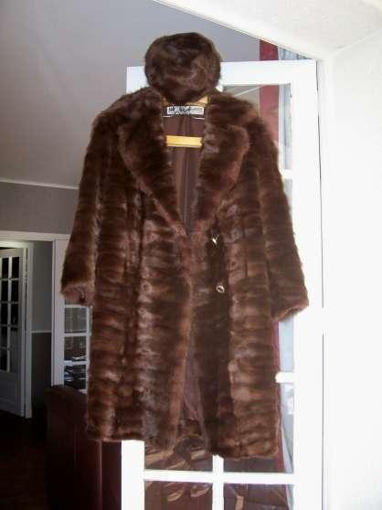 manteau vison et toque