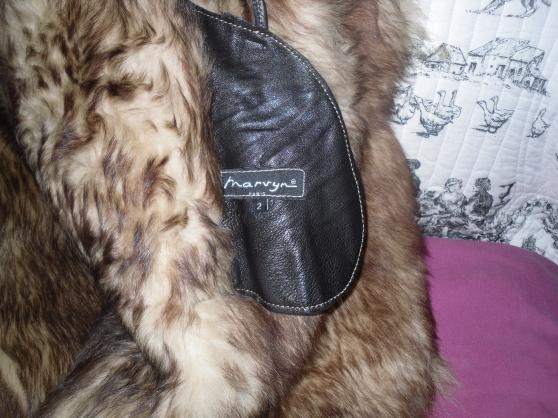 manteau cuir nat /fourrure acryl-neuf- - Photo 2