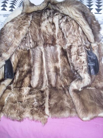manteau cuir nat /fourrure acryl-neuf- - Photo 3