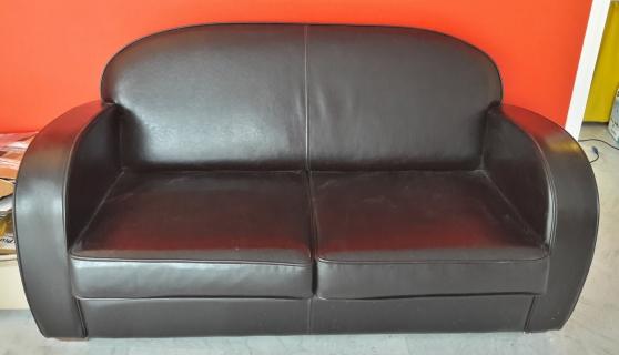 Canapé cuir 3p