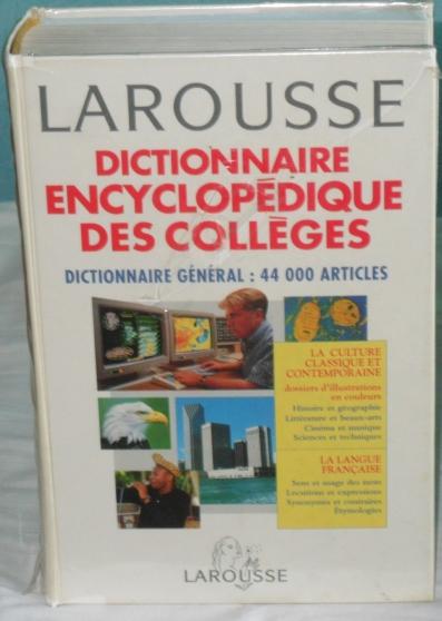 Annonce occasion, vente ou achat 'Dictionnaire Dictionnaire Encyclopédique'