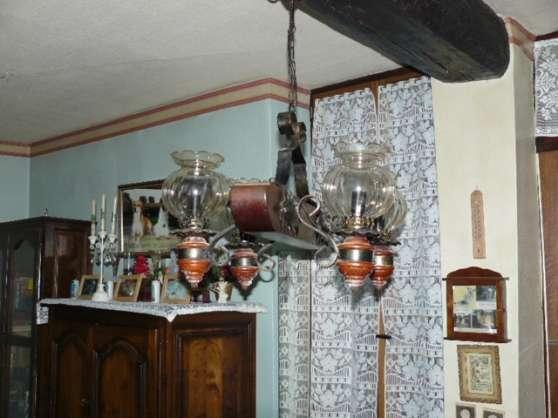 Lustre rustique 4 lampes.