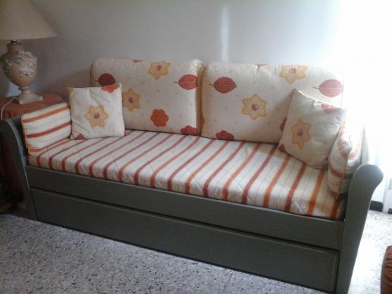 Canap lit gigogne sans dosseret en bois aix en provence - Lit transforme en canape ...