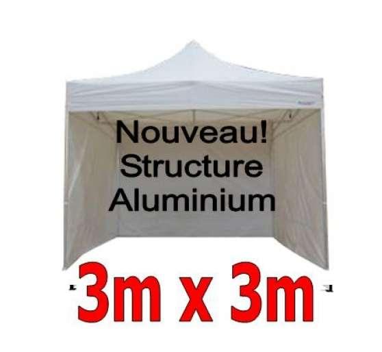 barnum pliant aluminium 3x3m blanc 4 c caen professionnels mat riel caen reference pro. Black Bedroom Furniture Sets. Home Design Ideas