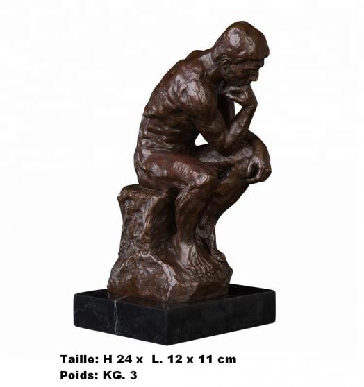 Petite Annonce : Sculpture \'\' penseur d\'auguste rodin \'\' - Sculpture \'\' Penseur d\'Auguste Rodin \'\'  en bronze de haute
