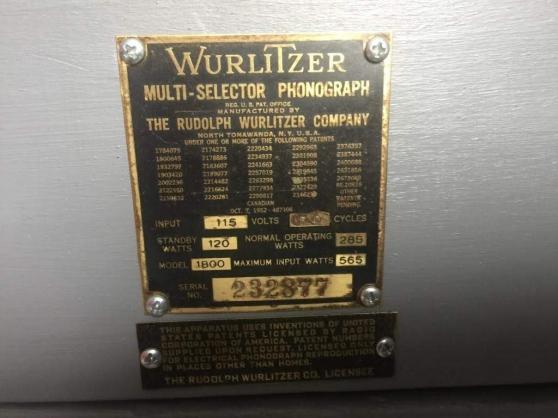 Jukebox WURLITZER 1800 - Photo 4