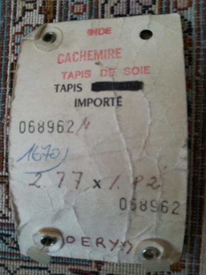 TAPIS CACHEMIRE PURE SOIE