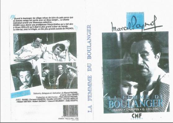 DVD LA FEMME DU BOULANGER MARCEL PAGNOL