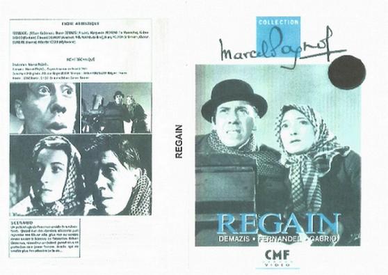 DVD REGAIN MARCEL PAGNOL 1937