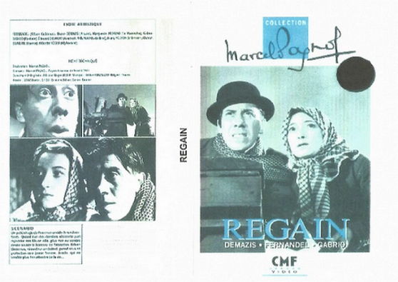 Annonce occasion, vente ou achat 'DVD REGAIN MARCEL PAGNOL 1937'