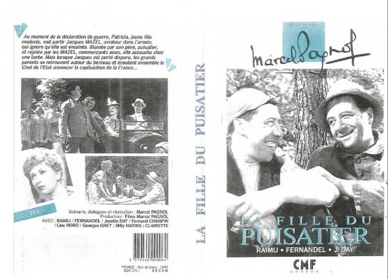 Annonce occasion, vente ou achat 'DVD LA FILLE DU PUISATIER MARCEL PAGNOL'