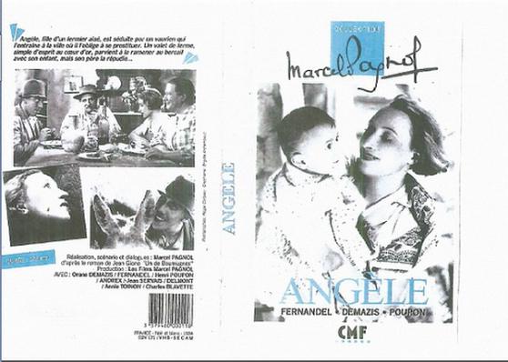 Annonce occasion, vente ou achat 'DVD ANGELE MARCEL PAGNOL 1934'