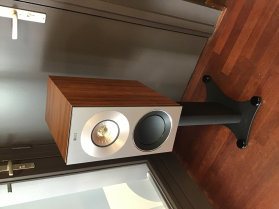 KEF Reference 1 Walnoot + stands (demo m