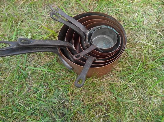 Ensemble d objet en cuivre ancien