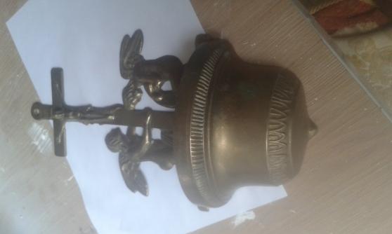 benitier en bronze angelot cherubin