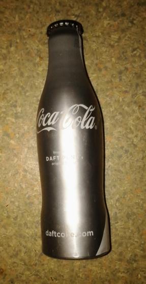 Bouteille de coca cola daft punk silver