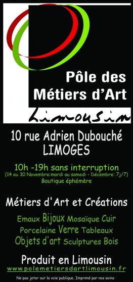 Annonce occasion, vente ou achat 'Boutique Pôle des Métiers d\'Art Limousin'