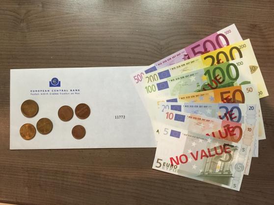 Pièces et billets euros série rare