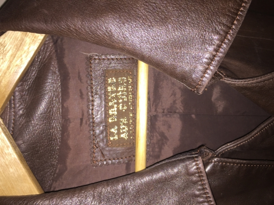MANTEAU HOMME CUIR MARRON - Photo 2