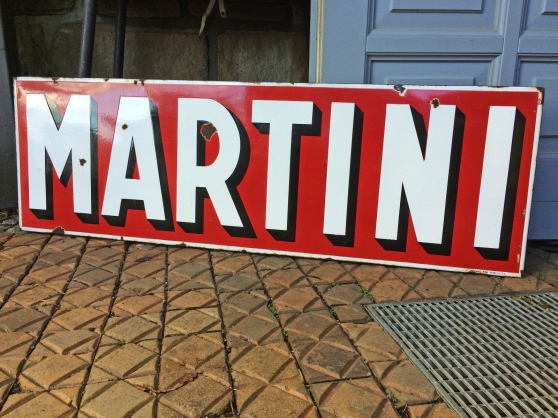 Plaque émaillée Martini