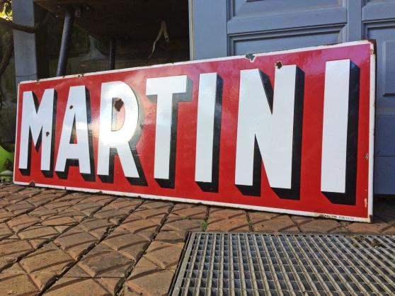 Plaque émaillée Martini - Photo 3