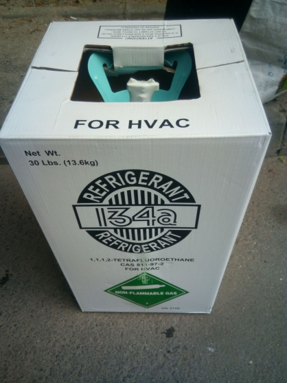 Annonce occasion, vente ou achat 'R134A 13.6 kg fluide frigorigène neuf'