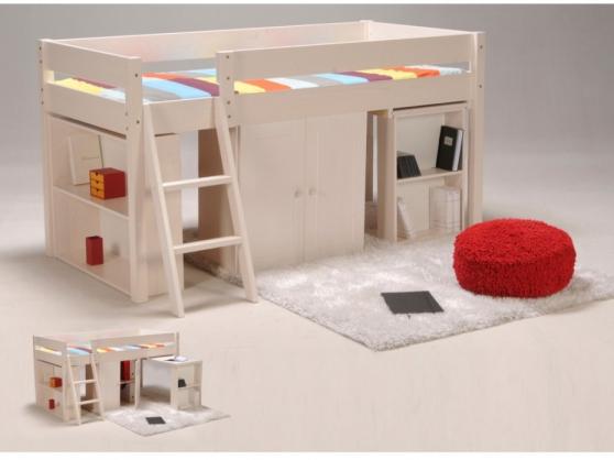 Lit mezzanine et meubles enfant