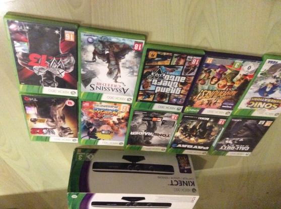 Kinect xbox 360 avec une dizaine de jeux