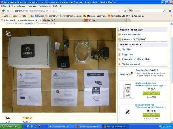Axibox transforme votre téléphone en tél