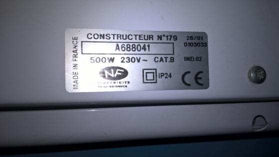 Petite Annonce : Radiateur de chauffage  electrique - Radiateur de chauffage  électrique   airelec  500w   hauteur  105