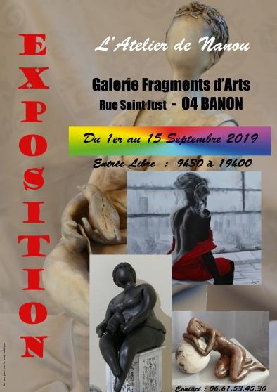 Annonce occasion, vente ou achat 'EXPO Sculptures & Peintures - NANOU'