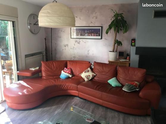 Canapé d'angle design en cuir