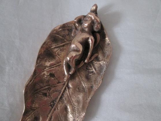 Feuille Ange En Bronze - Photo 3