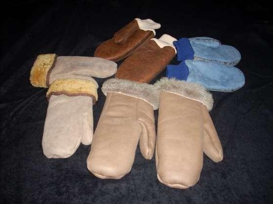 gants à 1 doigt, agneau, neufs, 24€
