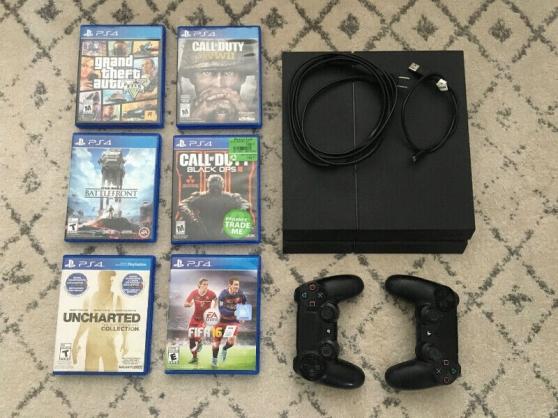 PS4 Slim Line + 5 jeux + 2 manettes